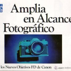 Cámara de fotos: PUBLICIDAD CATALOGO CAMARA FOTOGRAFICA CANON FTB. Lote 54215485