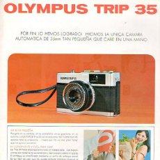 Cámara de fotos: PUBLICIDAD CATALOGO CAMARA FOTOGRAFICA OLYMPUS TRIP 35. Lote 54215508