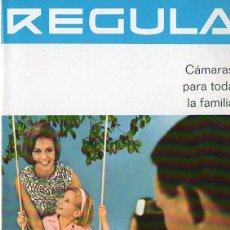 Cámara de fotos: PUBLICIDAD CATALOGO CAMARA FOTOGRAFICA REGULA . Lote 54237472