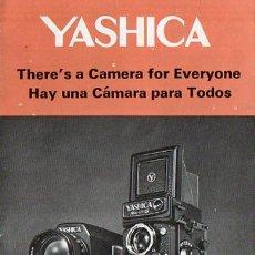 Cámara de fotos: PUBLICIDAD CATALOGO CAMARA FOTOGRAFICA YASHICA. Lote 54237501