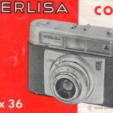 Cámara de fotos: PUBLICIDAD CATALOGO CAMARA FOTOGRAFICA WERLISA COLOR. Lote 54237505