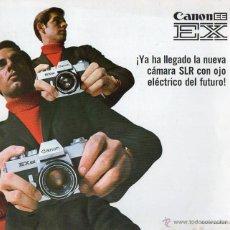 Cámara de fotos: PUBLICIDAD CATALOGO CAMARA FOTOGRAFICA CANON EE EX. Lote 54237528