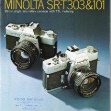 Cámara de fotos - PUBLICIDAD CATALOGO CAMARA FOTOGRAFICA MINOLTA SRT 303&101 - 54237533