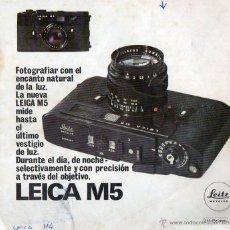 Cámara de fotos: PUBLICIDAD CATALOGO CAMARA FOTOGRAFICA LEICA M5. Lote 54237544