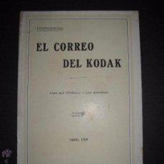 Cámara de fotos: EL CORREO DEL KODAK - ABRIL 1928 - MADRID - VER FOTOS -(V-4527). Lote 54653658
