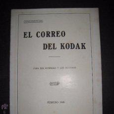 Cámara de fotos: EL CORREO DEL KODAK - FEBRERO 1928 - MADRID - VER FOTOS -(V-4528). Lote 54653722
