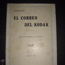 Cámara de fotos: EL CORREO DEL KODAK - AGOSTO 1928 - MADRID - VER FOTOS -(V-4531). Lote 54654036