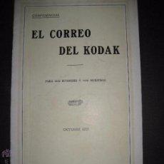 Cámara de fotos: EL CORREO DEL KODAK - OCTUBRE 1927 - MADRID - VER FOTOS -(V-4535). Lote 54654226