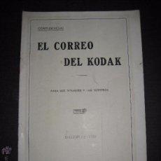 Cámara de fotos: EL CORREO DEL KODAK - DICIEMBRE 1929 - MADRID - VER FOTOS -(V-4536). Lote 54654272