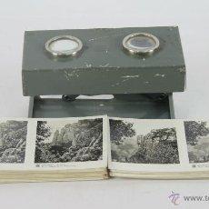 Cámara de fotos: ANTIGUO VISOR ESTEREOSCOPICO RELLEY. INCLUYE 55 FOTOGRAFIAS. SIGLO XX.. Lote 49109417