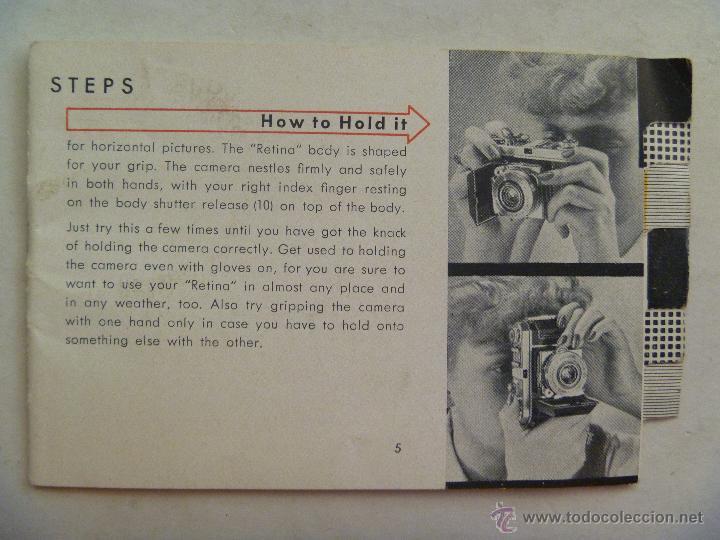 PEQUEÑO MANUAL DE INSTRUCCIONES DE LA CAMARA RETINA DE KODAK. EN INGLES (Cámaras Fotográficas - Catálogos, Manuales y Publicidad)