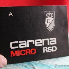 Cámara de fotos: FOLLETO DE LA CARENA MICRO RSD. Lote 54952239