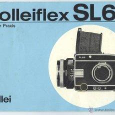 Cámara de fotos: MANUAL DE INSTRUCCIONES EN ALEMAN- ROLLEI SL66 6X6 FOTOGRAFÍA ANALÓGICA. Lote 55074948