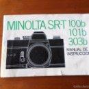 Cámara de fotos: CATALOGO MINOLTA SR-T 100B. Lote 55345494