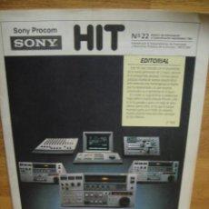 Cámara de fotos: HIT Nº 22 , SEPTIEMBRE DE 1987 - BOLETIN INFORMATIVO DE SONY. Lote 56025322
