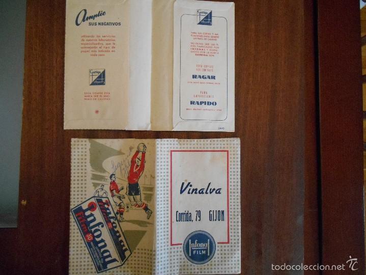 SOBRES DE FOTOS DE:VINALVA,GIJON ,AÑOS 40 (Cámaras Fotográficas - Catálogos, Manuales y Publicidad)