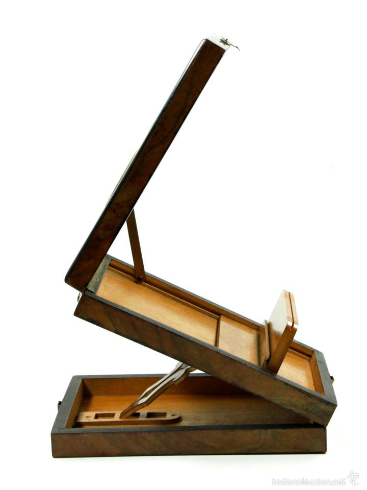Cámara de fotos: VISOR ÓPTICO GRAPHOSCOPE, EN CAOBA. 1890 aprox. Medidas cerrado:13,5x21cm. - Foto 3 - 56589469