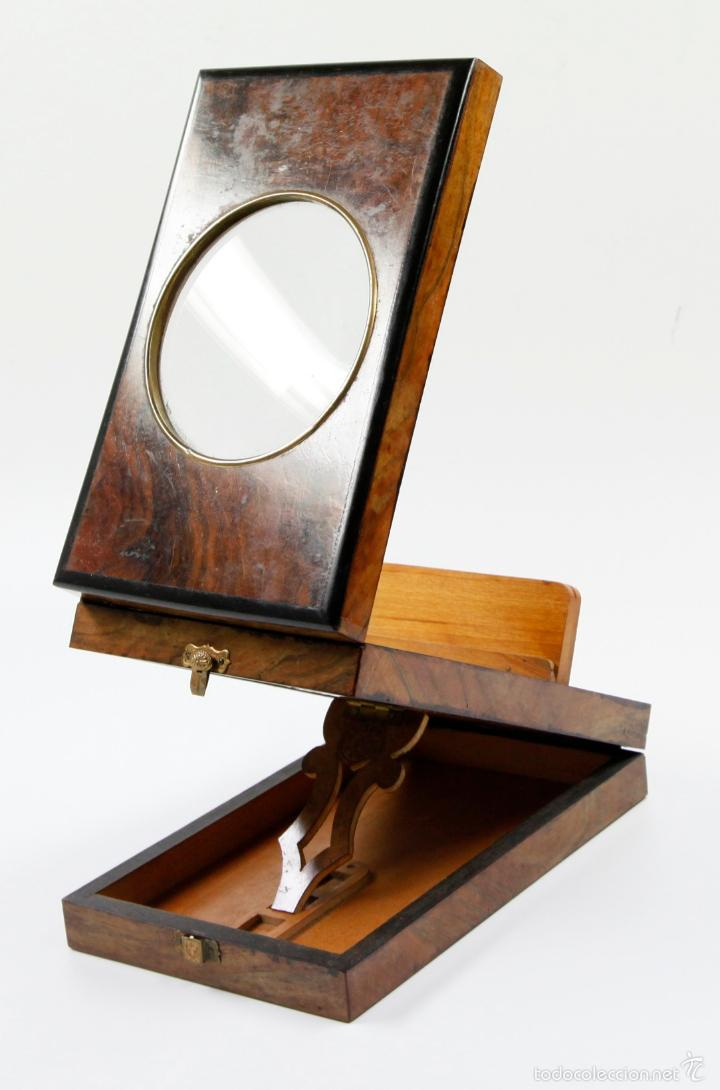 Cámara de fotos: VISOR ÓPTICO GRAPHOSCOPE, EN CAOBA. 1890 aprox. Medidas cerrado:13,5x21cm. - Foto 5 - 56589469