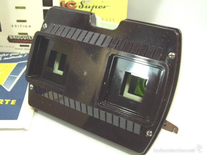 Cámara de fotos: VISOR ESTEREOSCOPICO 3D - STEREOCLIC SUPER BRUGUIERE + CATALOGO 1964 + 2 LAMINA LOURDES - FRANCE - Foto 2 - 56687351