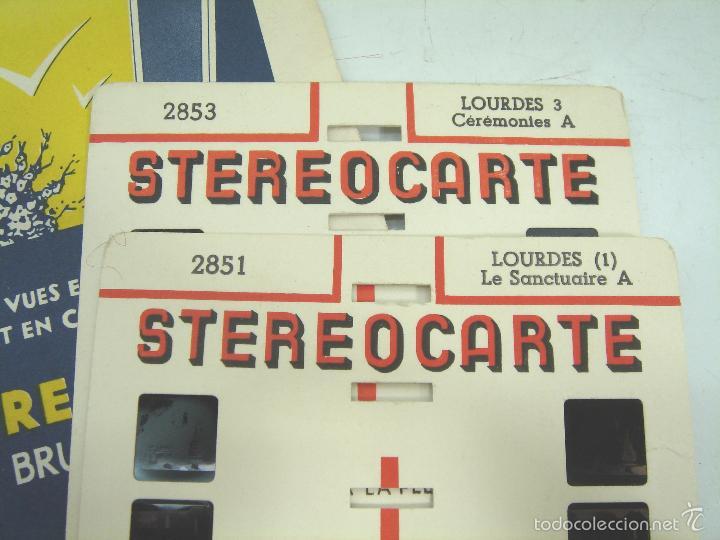 Cámara de fotos: VISOR ESTEREOSCOPICO 3D - STEREOCLIC SUPER BRUGUIERE + CATALOGO 1964 + 2 LAMINA LOURDES - FRANCE - Foto 5 - 56687351
