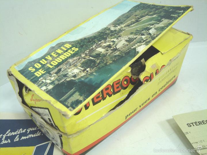 Cámara de fotos: VISOR ESTEREOSCOPICO 3D - STEREOCLIC SUPER BRUGUIERE + CATALOGO 1964 + 2 LAMINA LOURDES - FRANCE - Foto 7 - 56687351