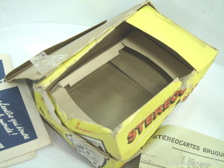Cámara de fotos: VISOR ESTEREOSCOPICO 3D - STEREOCLIC SUPER BRUGUIERE + CATALOGO 1964 + 2 LAMINA LOURDES - FRANCE - Foto 8 - 56687351