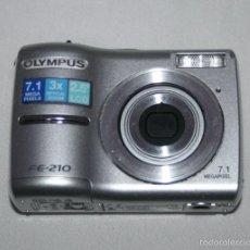 Cámara de fotos: CAMARA DE FOTOS DIGITAL OLYMPUS FE-210 7.1 MP, LLEVA UNA TARJETA SD DE 256 MB, VER DESCRIPCION. Lote 56938037