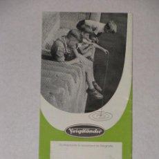 Cámara de fotos: CATALOGO DE CÁMARAS FOTOGRÁFICAS DE VOIGTLANDER ( VOIGTLÄNDER ). 1954 - 1955. . Lote 57118840
