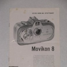 Cámara de fotos: CATALOGO FOLLETO DE ZEISS IKON. MOVICON 8. 1957.. Lote 57166668