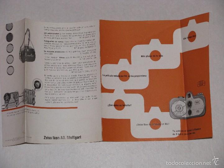 FOLLETO DE ZEISS IKON. MOVINETTE.. 1958. (Cámaras Fotográficas - Catálogos, Manuales y Publicidad)