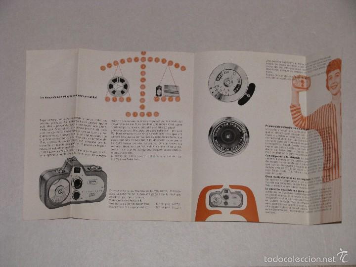 Cámara de fotos: FOLLETO DE ZEISS IKON. MOVINETTE.. 1958. - Foto 2 - 57166849