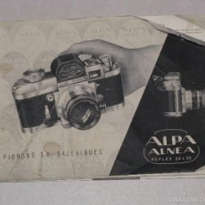Fotocamere: CATALOGO DE ALPA ALNEA REFLEX 24X36. PIGNONS S.A. BALLAIGUES.. Lote 57166963