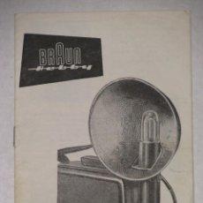 Cámara de fotos: CATALOGO DE BRAUN. BRAUN HOBBY.. Lote 57196970