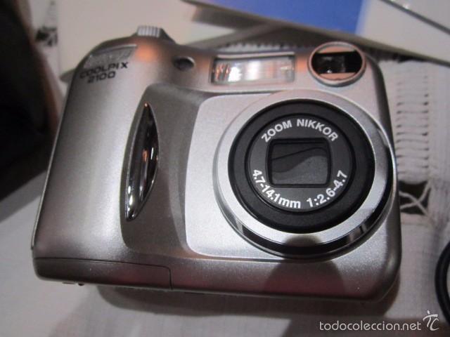 Cámara de fotos: Cámara de fotos Nikon Coolpix 2100, con caja y accesorios. - Foto 2 - 57452525