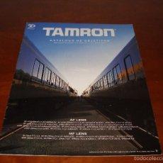 Cámara de fotos: CATALOGO DE OBJETIVOS TAMRON. Lote 57938271