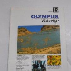 Cámara de fotos: REVISTA OLYMPUS Nº 18. VISIONAGE. THE INTERNATIONAL MAGAZINE OF PHOTOGRAPHIC INFORMATION. TDKR20. Lote 58128844