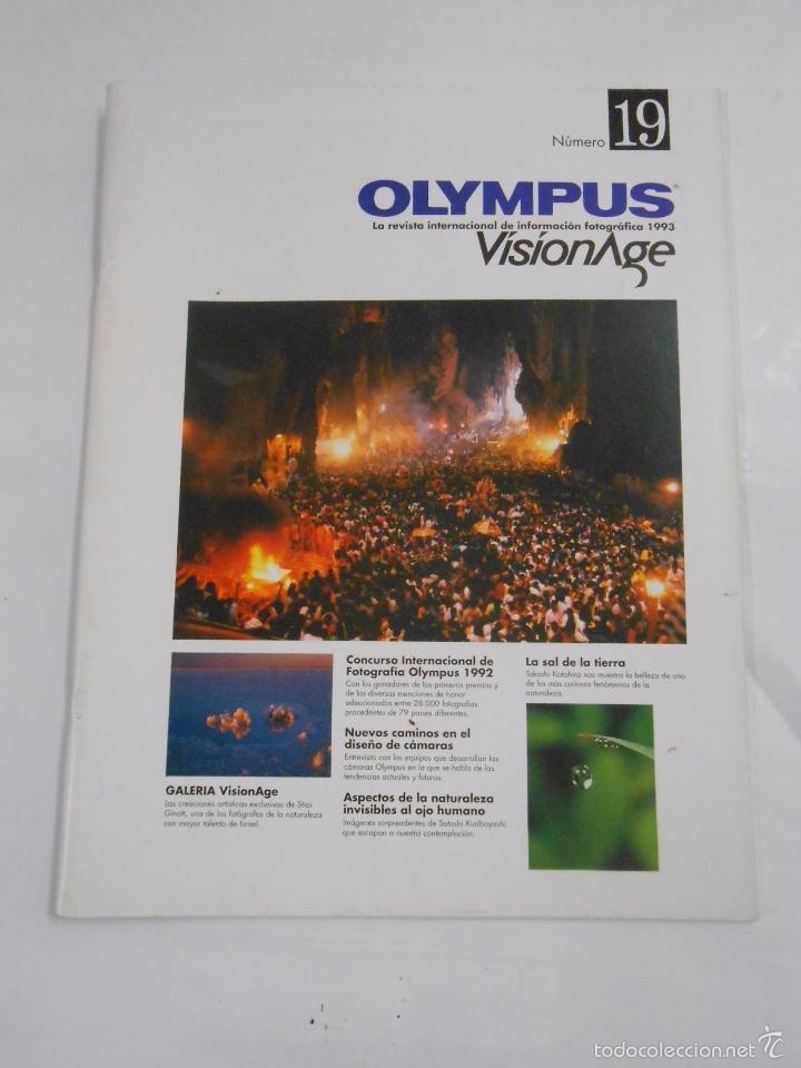 REVISTA OLYMPUS Nº 19. VISIONAGE. THE INTERNATIONAL MAGAZINE OF PHOTOGRAPHIC INFORMATION. TDKR20 (Cámaras Fotográficas - Catálogos, Manuales y Publicidad)