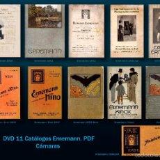 Cámara de fotos: DVD 11 CATÁLOGOS CÁMARAS ERNEMANN. Lote 172339014