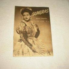Cámara de fotos: SOMBRAS, REVISTA FOTOGRAFICA . N° 35 . ABRIL 1947. Lote 59959627