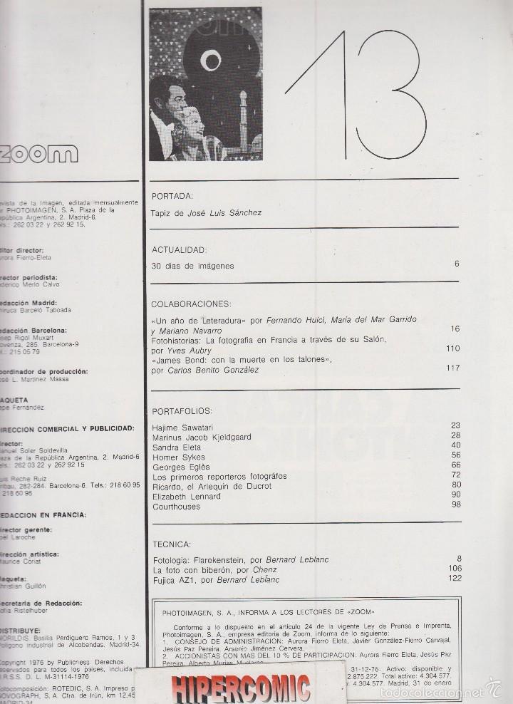 Cámara de fotos: ZOOM nº 13 : REVISTA DE LA IMAGEN , AÑOS 70 - PORTAFOLIO: VER INDICE - Foto 2 - 59994295