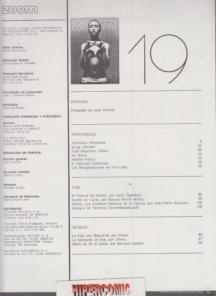 Cámara de fotos: ZOOM nº 19 : REVISTA DE LA IMAGEN , AÑOS 70 - PORTAFOLIO: VER INDICE - Foto 2 - 59995455