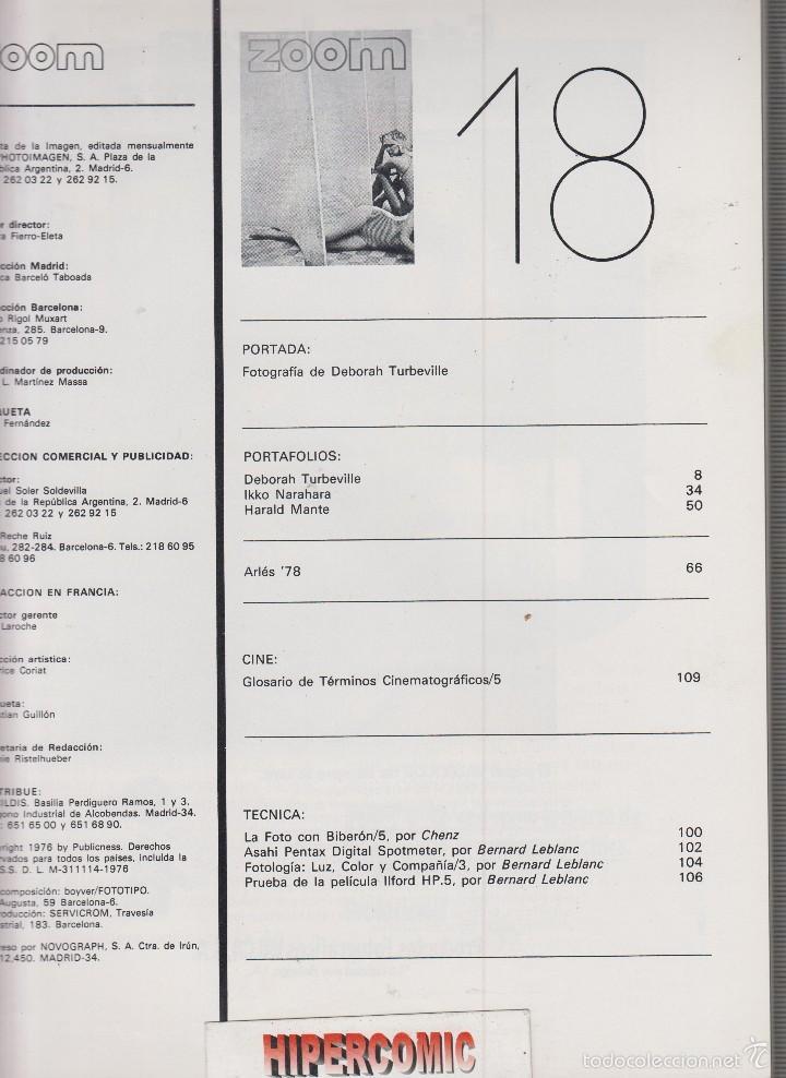 Cámara de fotos: ZOOM nº 18 : REVISTA DE LA IMAGEN , AÑOS 70 - PORTAFOLIO: VER INDICE , - Foto 2 - 59996775