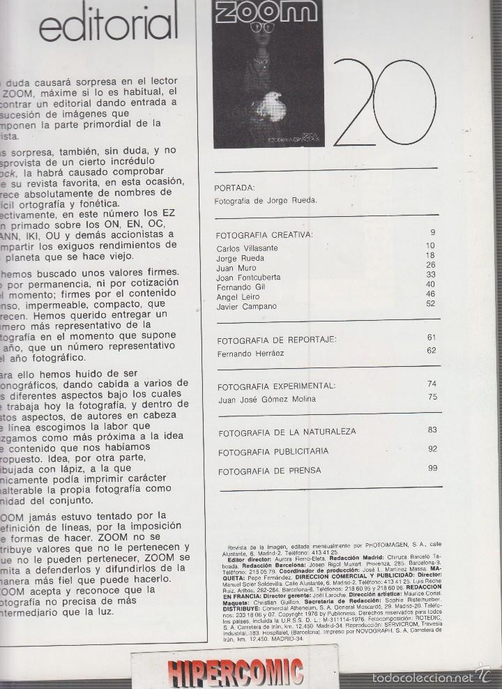 Cámara de fotos: ZOOM nº 20 : REVISTA DE LA IMAGEN , AÑOS 70 - PORTAFOLIO: VER INDICE - Foto 2 - 59997343