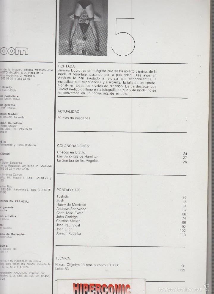 Cámara de fotos: ZOOM nº 5 : REVISTA DE LA IMAGEN , AÑOS 70 - PORTAFOLIO: VER INDICE - Foto 2 - 60050403