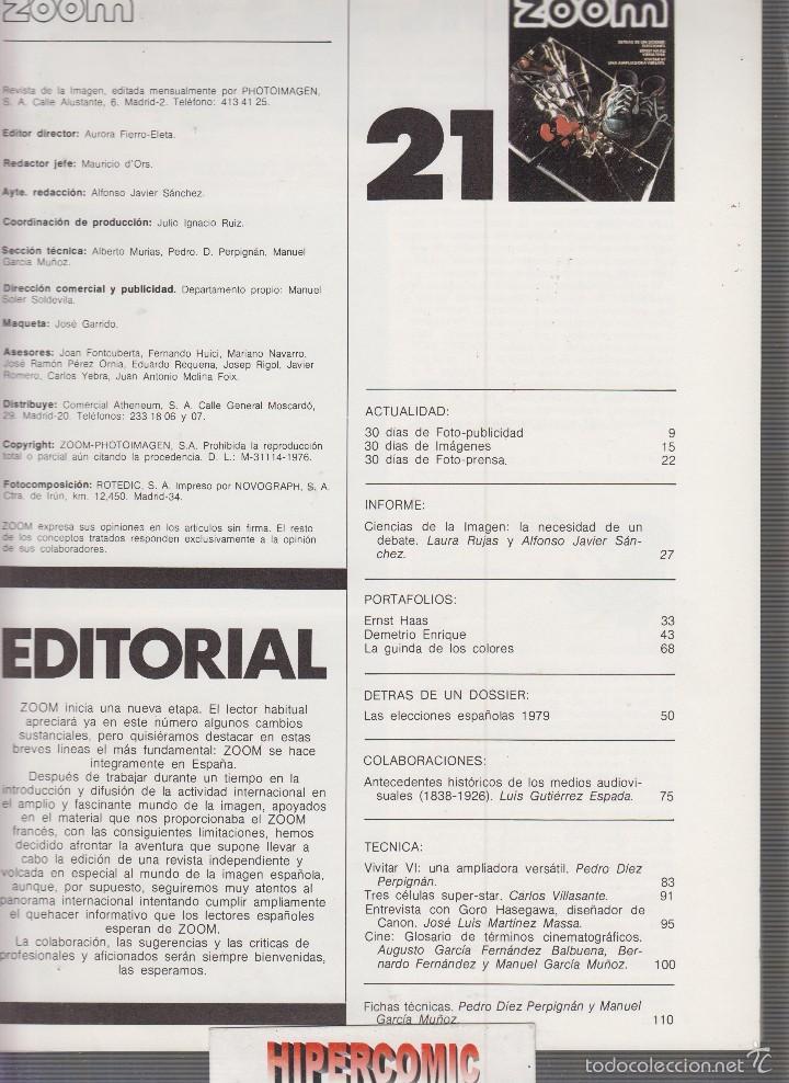 Cámara de fotos: ZOOM nº 21 : REVISTA DE LA IMAGEN , AÑOS 70 - PORTAFOLIO: VER INDICE - Foto 2 - 60050647