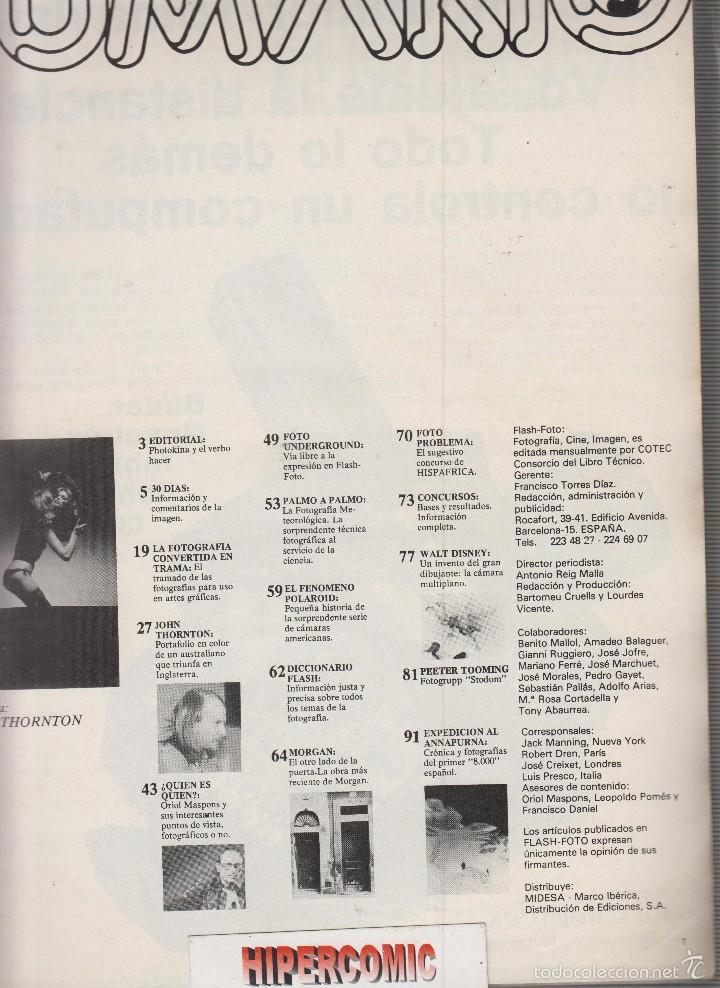 Cámara de fotos: FLASH FOTO nº 5 - Foto - Imagen y Cine AÑOS 70 - : VER INDICE - Foto 2 - 60059679