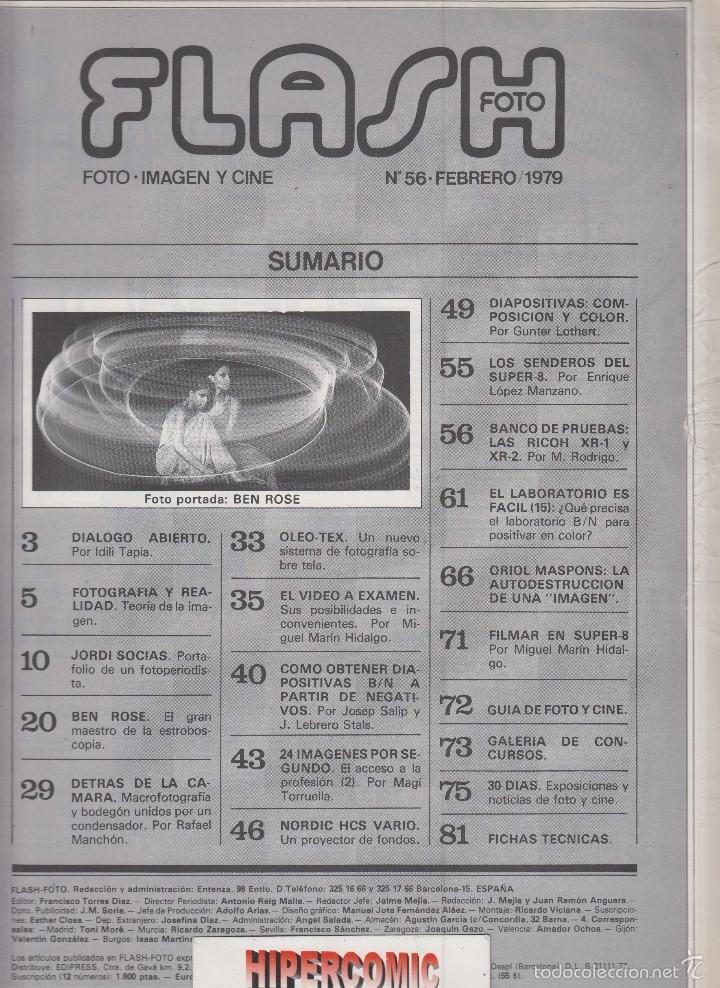 Cámara de fotos: FLASH FOTO nº 56 - Foto - Imagen y Cine AÑOS 70 - : VER INDICE - - Foto 2 - 60063199
