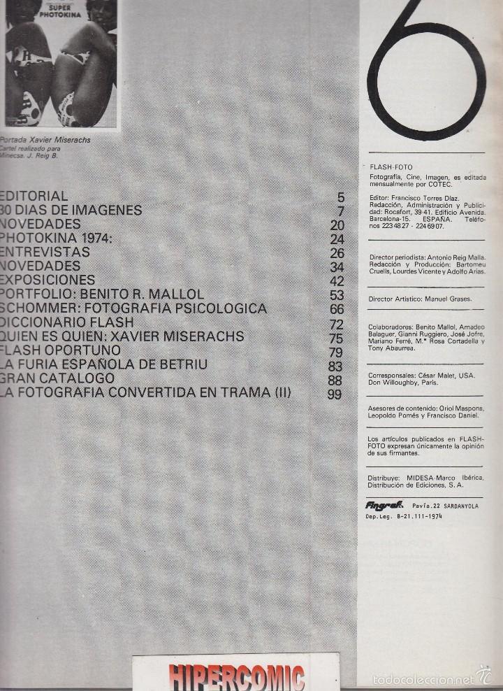 Cámara de fotos: FLASH FOTO nº 6 - Foto - Imagen y Cine AÑOS 70 - : VER INDICE - - Foto 2 - 60064307