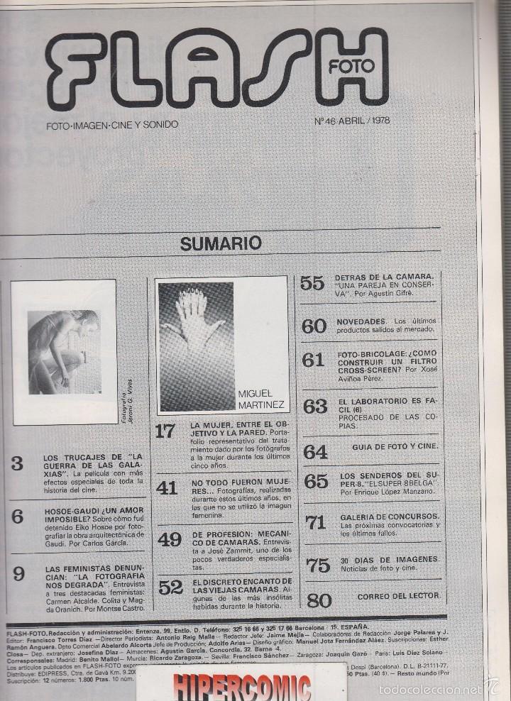 Cámara de fotos: FLASH FOTO nº 46 - Foto - Imagen y Cine AÑOS 70 - : VER INDICE - - Foto 2 - 60064443