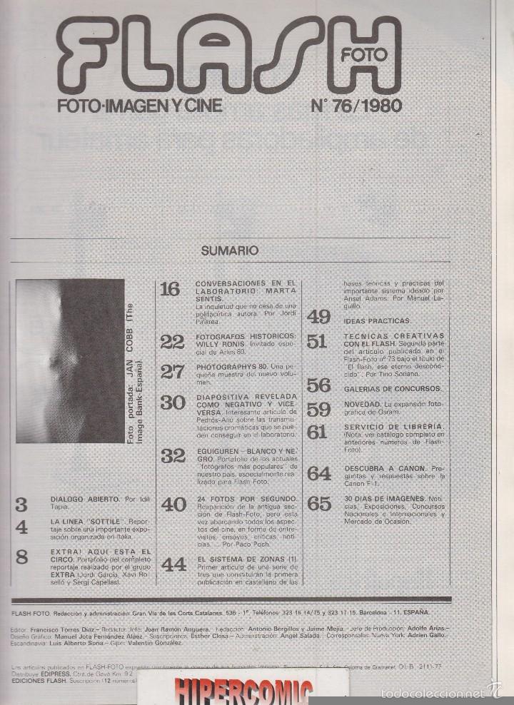 Cámara de fotos: FLASH FOTO nº 76 - Foto - Imagen y Cine AÑOS 70 - : VER INDICE - - Foto 2 - 60064571